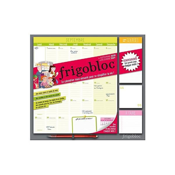 Frigobloc mensuel : de septembre 2020 à décembre 2021 : le