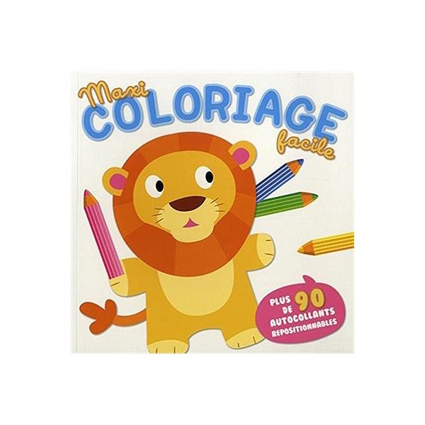 Maxi Coloriage Facile Lion Lion 9789463040549 Espace