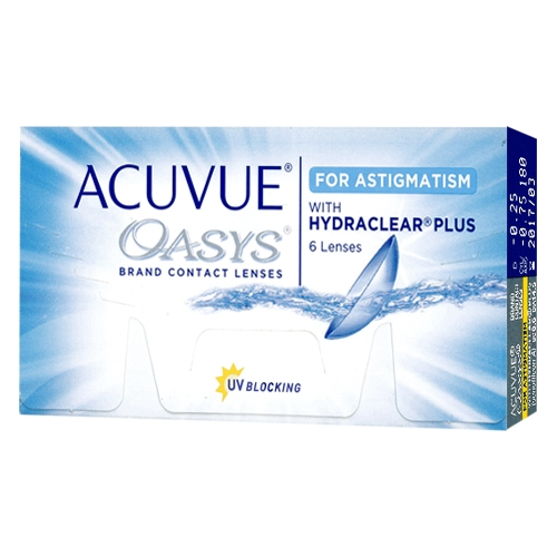 lentilles Acuvue Oasys for astigmatism ?? Acuvue Oasys for astigmatism