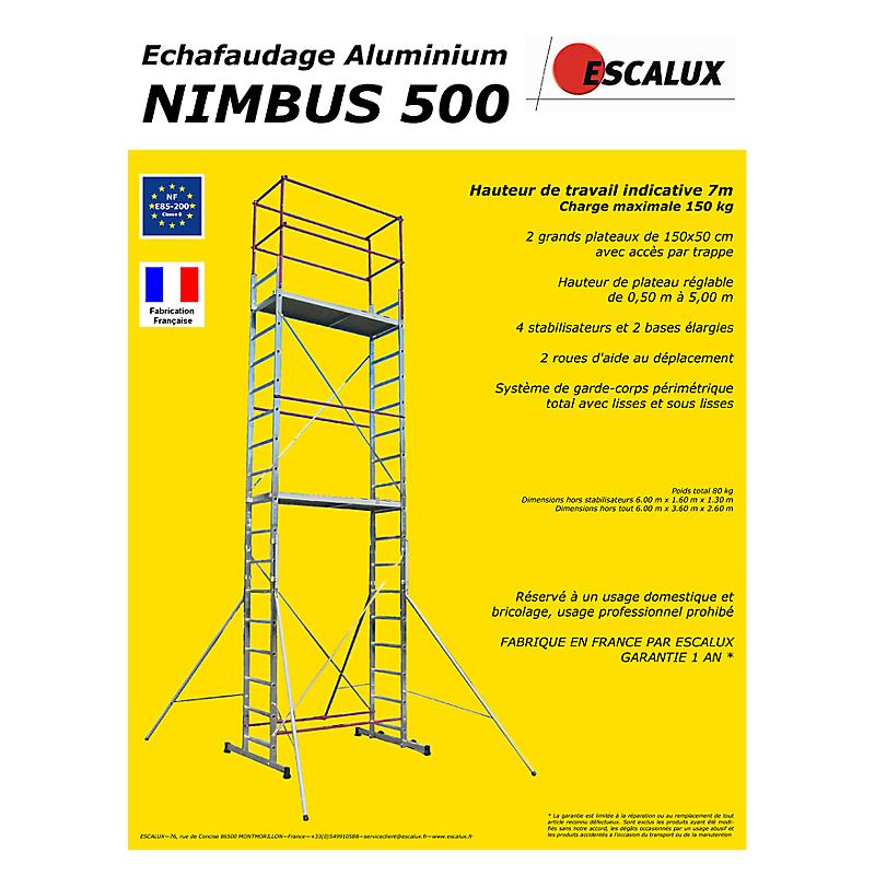 Echafaudage Aluminium Nimbus 500 Maison Et Loisirs E Leclerc