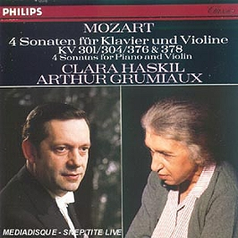 Sonates pour piano et violon kv 301, 304, 376, 378, CD