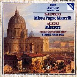 Palestrina : missa papae Marcelli - Allegri : miserere..., CD