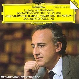 4 sonates pour piano op.31 n°2, op.53, op.79, op.81a, CD