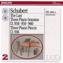 Les trois dernières sonates D958, 959, 960 - trois pièces pour piano D946, CD