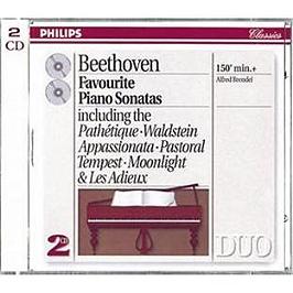 Favourite Piano Sonatas:Pathetique, Waldstein, Appassionata, Pastoral, Tempest, Moonlight & Les Adie, CD