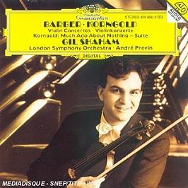 Barber-Korngold-Concertos Viol, CD