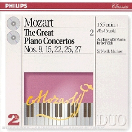 The Great Piano Concertos N 9, 15, 22, 25, 27, CD
