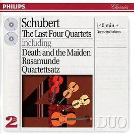 Les quatre derniers quatuors à cordes, CD