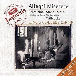 Legends 1963 : Miserere, CD