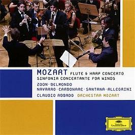 Concerto pour flûte & harpe - sinfonia concertante pour vents, CD