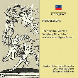 Hebrides overture / symphony 4 / midsummer night dream, CD