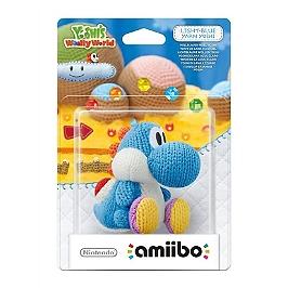 Figurine Amiibo Yoshi de laine bleu clair