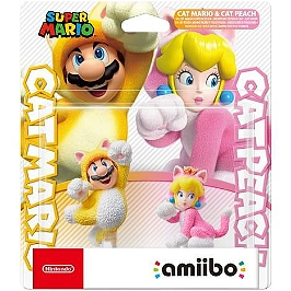 Figurine Amiibo - collection Super Mario - Mario Chat et Peach Chat