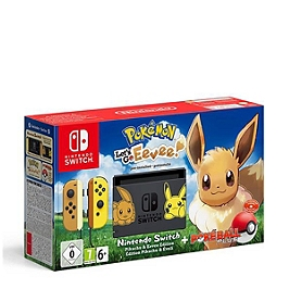 Console nintendo switch pokémon let's go : evoli préinstallé et poké ball plus pikachu & evoli - Limitée (SWITCH)
