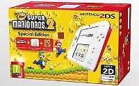 Pack console Nintendo 2DS (blanc & rouge) & new super Mario Bros 2 (préinstallé) - édition spéciale (3DS)