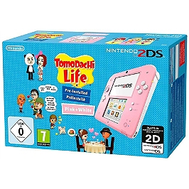Pack console Nintendo 2DS (blanc & rose) & tomodachi life (préinstallé) (3DS)
