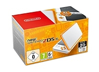 Console New Nintendo 2DS XL - blanc & orange (3DS)