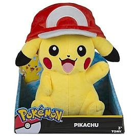 Peluche Pokémon maxi Pika casquette Sacha