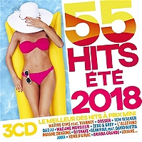 55 hits été 2018 de Compilation en CD BOX