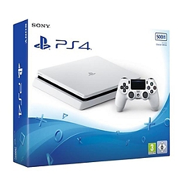 Console Playstation 4 (500Go) Slim - blanche (PS4)