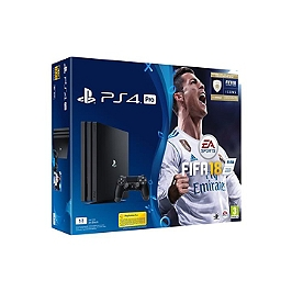 Pack console Playstation 4 Pro (1 To) A Noire & FIFA 18 + 14 jours PS+ (PS4)