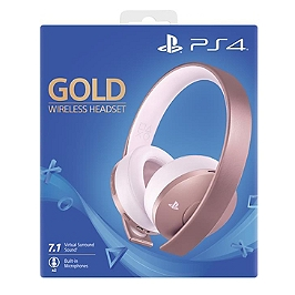 Casque-micro sans fil gold - édition rose gold (PS4)