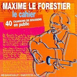 Le Cahier, 40 Chansons De Brassens En Public, CD