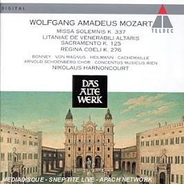 Missa Solemnis Kv 337 - Litaniae De Venerabili Altaris Sacramento K 125;Regina Coeli K 276, CD
