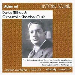 Darius Milhaud : orchestral & chamber music, CD