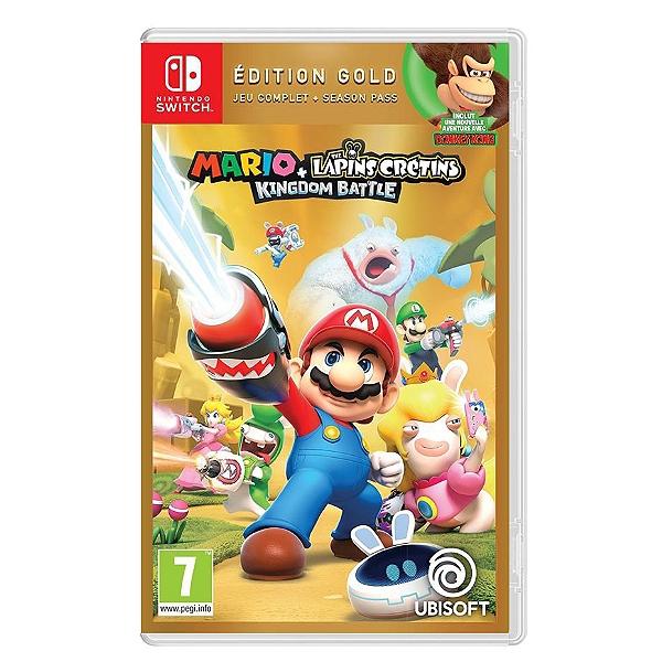 Mario The Lapins Crétins Kingdom Battle Gold Switch Sur