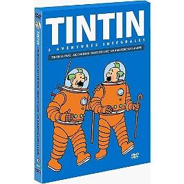 Coffret Tintin, vol. 5 : objectif Lune ; on a marché sur la Lune ; Tintin au pays de l'or noir, Dvd