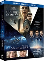 Coffret science fiction 3 films : premier contact ; passengers ; life en Blu-ray