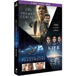 Coffret science fiction 3 films : premier contact ; passengers ; life, Dvd