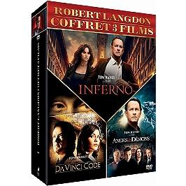 Coffret Dan Brown 3 films : Da Vinci code ; anges et démons ; inferno, Dvd