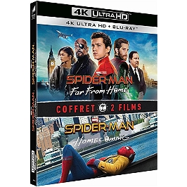 Coffret Spider-Man 2 films : homecoming ; far from home, Blu-ray 4K