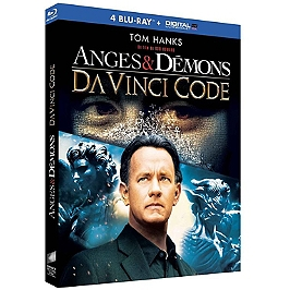 Coffret Dan Brown 2 films : Da Vinci code ; anges et démons, Blu-ray