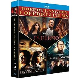 Coffret Robert Langdon 3 films : Da Vinci Code ; anges et démons ; inferno, Blu-ray