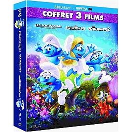 Coffret les Schtroumpfs 3 films: les Schtroumpfs ; les Schtroumpfs 2 ; le village perdu, Blu-ray