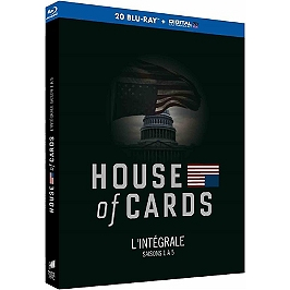 Coffret house of cards, saisons 1 à 5, Blu-ray