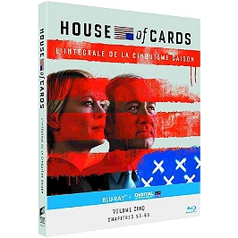 Coffret house of cards US, saison 5, Blu-ray