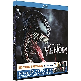 Venom, inclus : 10 affiches collector stylisées, édition spéciale E. Leclerc, Blu-ray