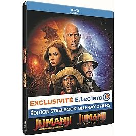 Coffret Jumanji 1 et 2 : bienvenue dans la jungle ; next level, édition spéciale E. Leclerc, Blu-ray