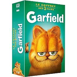 Coffret Garfield 3 films : Garfield 1 ; Garfield 2 ; Garfield 3D, Dvd