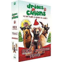 Coffret drôles de chiens 3 films : Rex chien pompier : Fluke ; Marmaduke, Dvd