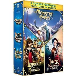 Coffret contes féeriques 3 films : un monstre à Paris ; la légende de Manolo ; Jack et la mécanique du coeur, Dvd
