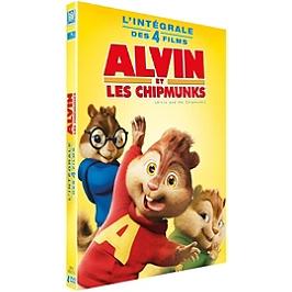 Coffret Alvin et les Chipmunks 4 films : Alvin et les Chipmunks 1 à 3 ; à fond la caisse, Dvd