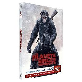 La planète des singes : suprématie + 4 cartes collector - édition spéciale E. Leclerc, Dvd