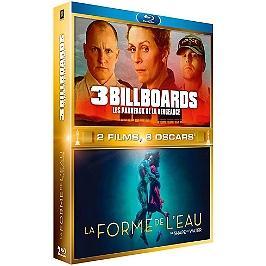 Coffret 2 films : 3 billboards, les 3 panneaux de la vengeance ; la forme de l'eau, Blu-ray