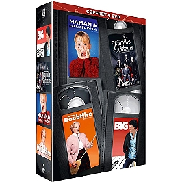 Coffret 4 films : maman j'ai raté l'avion ; madame Doubtfire ; famille adams ; big, Dvd