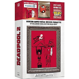 Deadpool 2 Edition spéciale E.Leclerc, édition limitée + Figurine porte-clé Funko, Steelbook édition spéciale E.Leclerc, Blu-ray